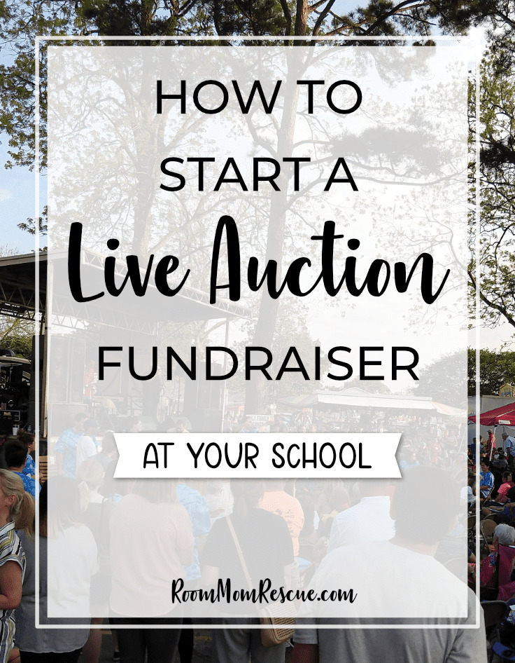 Hands down this is the most successful fundraiser at our school! Learn how to plan a simple live auction, get ideas and free resources. Learn how to get donations for your event, product ideas, student involvement, decorations, art projects and more at www.roommomrescue.com #roommom #roomparent #roommomrescue