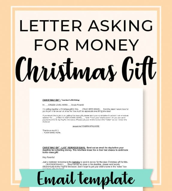 Swipe this room mom letter to parents asking for money to collect for the teacher's Christmas gift. It's always a good idea make sure you give parents the opportunity to contribute to the class Christmas gift by sending this letter! Get more free room mom resources and the best teacher gift ideas at roommomrescue.com! #roommom #roommomlife #templates