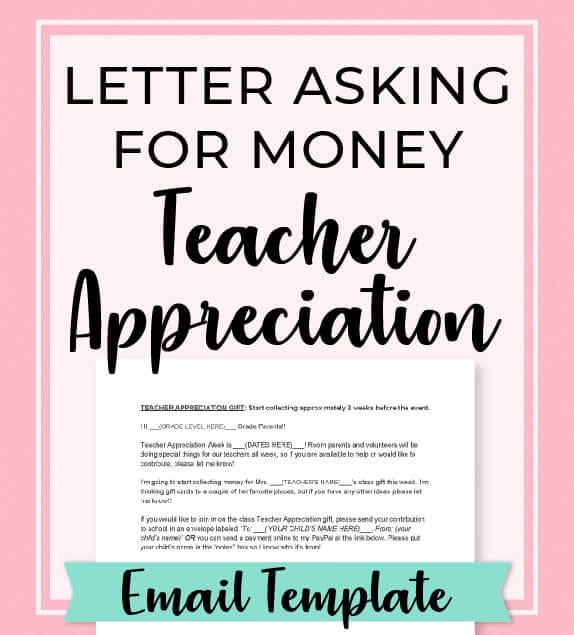 Letter To Parents Asking For Money Email Template Room Mom Rescue