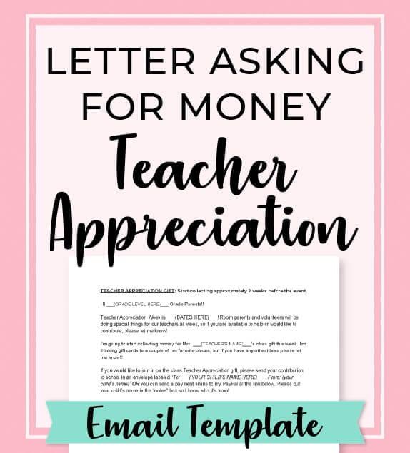 room mom letter for teacher appreciation gift