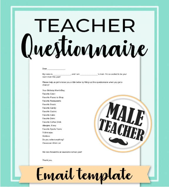 Find out exactly what gift to give the teacher to show him you appreciate everything he does! No need to search for ideas, let him tell you what he really wants with this free email template questionnaire. Give the best birthday, Christmas and End of Year gifts, year after year! Repin and get the Room Moms Quick Start Guide at: www.roommomrescue.com #roommom #roomparent #roommomrescue