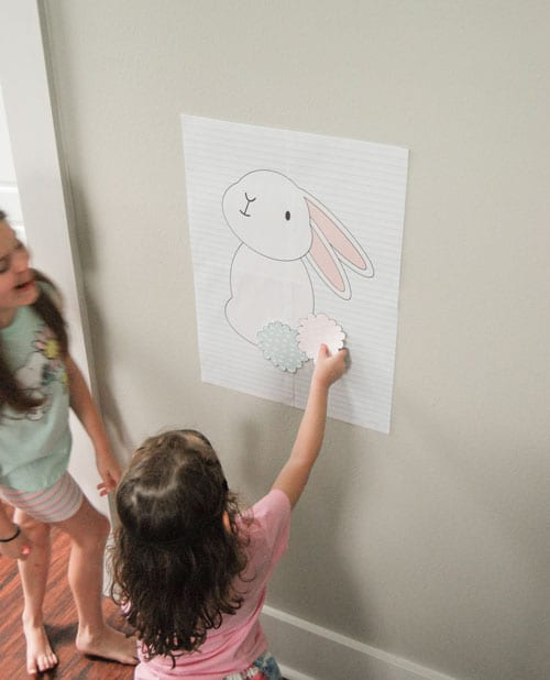 DIY Pin the Tail on the Bunny Easter Game