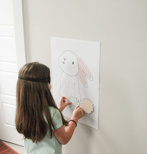 DIY Pin the Tail on the Bunny Easter Game Printable