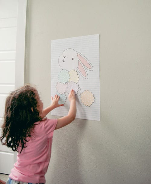 DIY Pin the Tail on the Bunny Easter Game Free Template