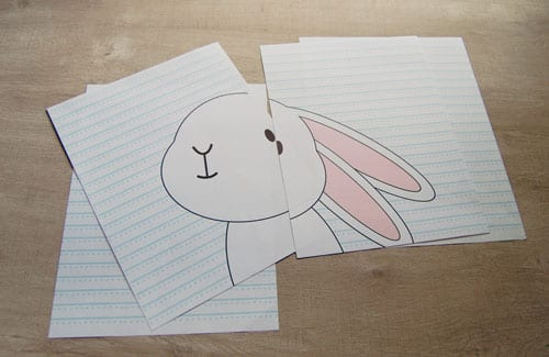 DIY Pin the Tail on the Bunny Easter Game - Free Template