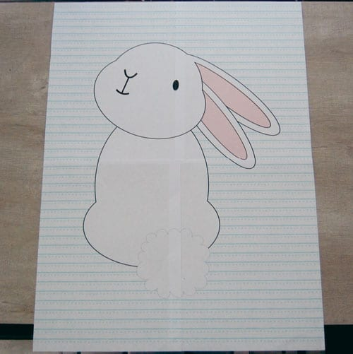 Do It Yourself Pin the Tail on the Bunny Easter Game