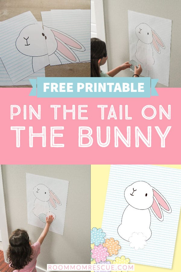 DIY Pin the Tail on the Bunny Easter Game - Free Printable