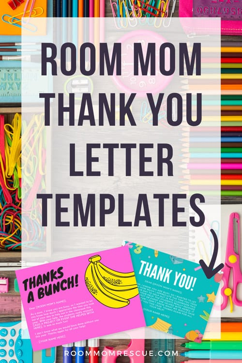 Room mom thank you note