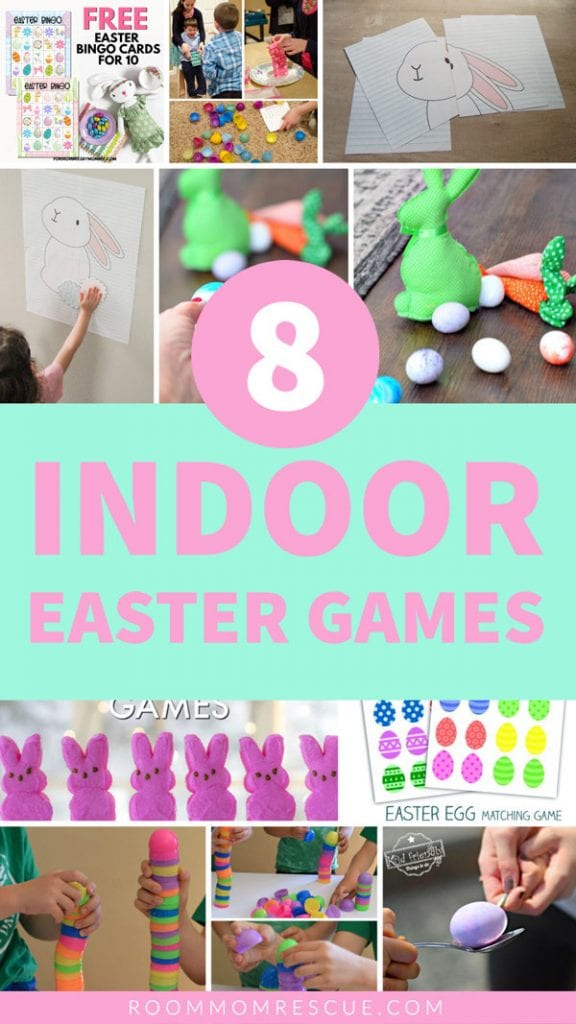 Indoor Easter Games for Kids at Home or at School