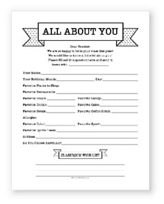 room mom introduction letter to parents