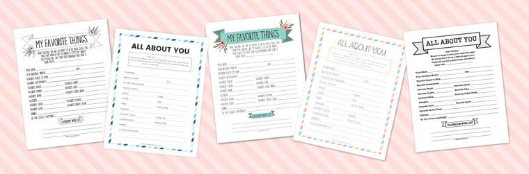 room parent questionnaire for teacher
