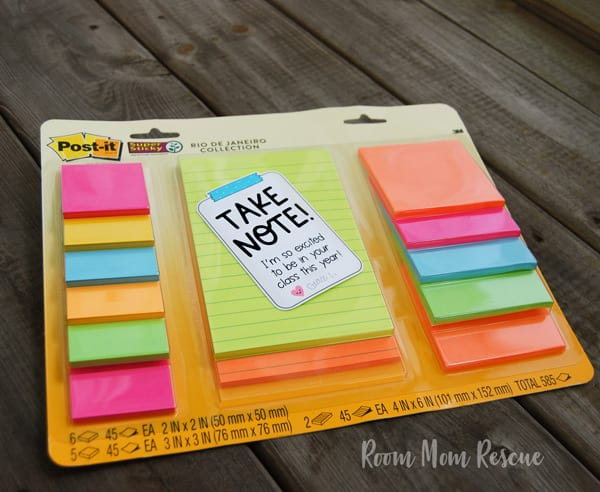 printable back to school teacher gift tags post-it