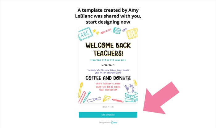 welcome back teachers flyer