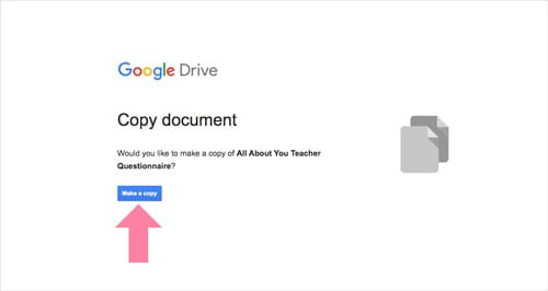 copy google forms teacher questionnaire