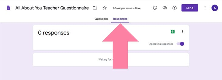 google forms teacher questionnaire teacher favorites