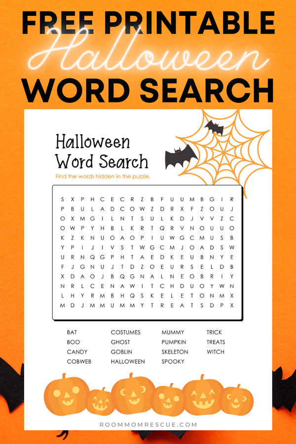halloween word search free pdf 2nd grade