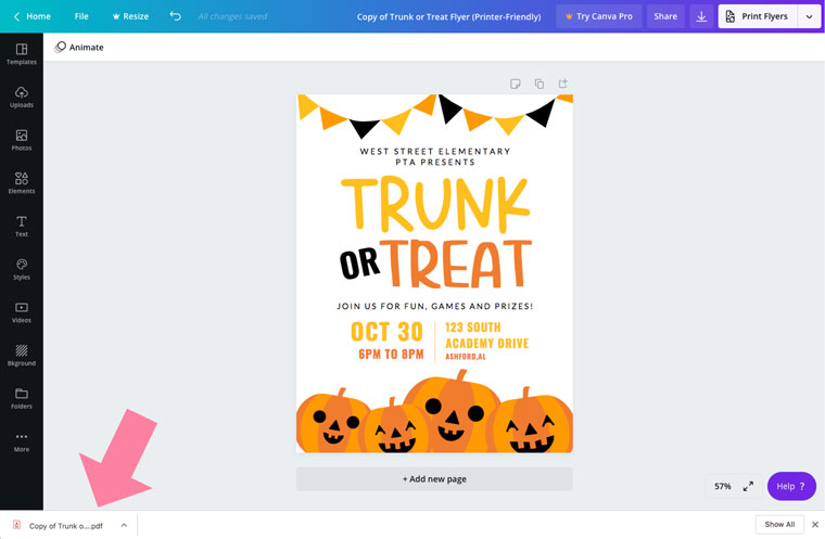free trunk or treat printable