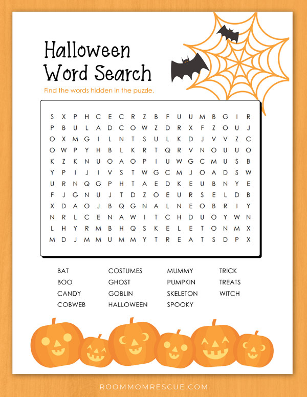halloween word search free pdf 3rd grade