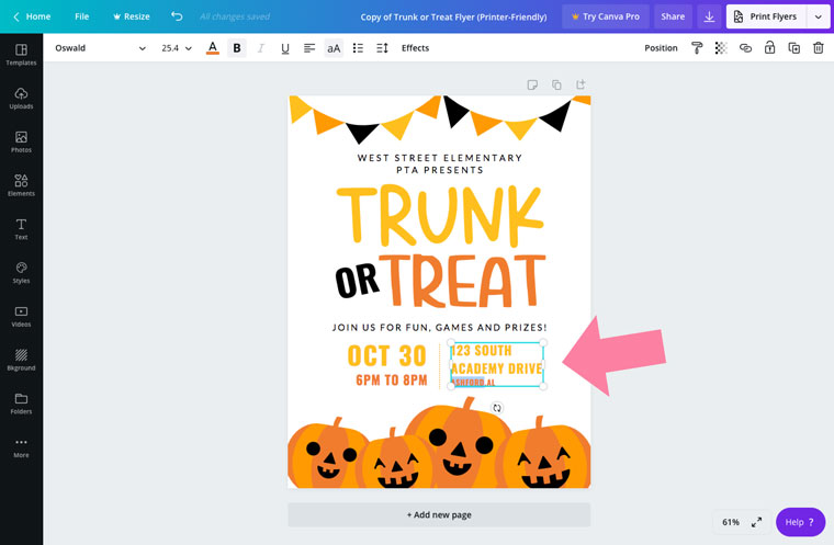 free editable flyer template for halloween party