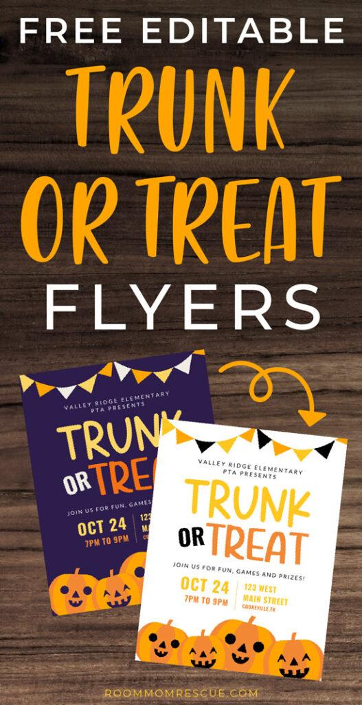 trunk or treat flyer ideas