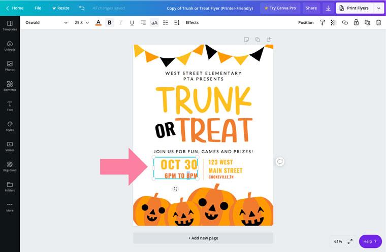 editable flyer template for halloween party