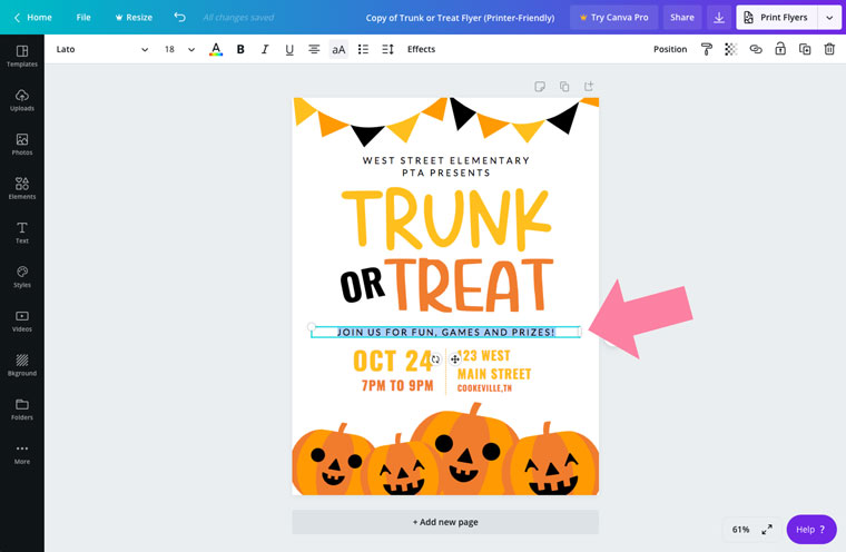 trunk or treat printable