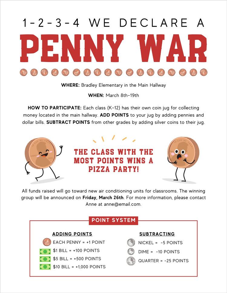 penny wars flyer