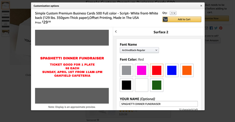 how to make spaghetti dinner fundraiser tickets