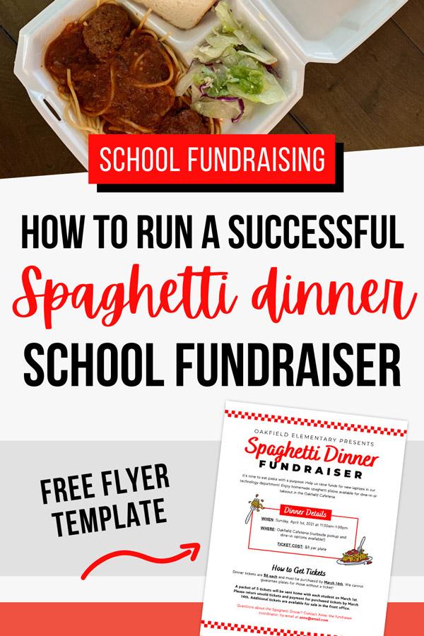 how to run a spaghetti dinner fundraiser