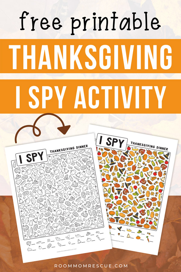 free printable thanksgiving I spy worksheets