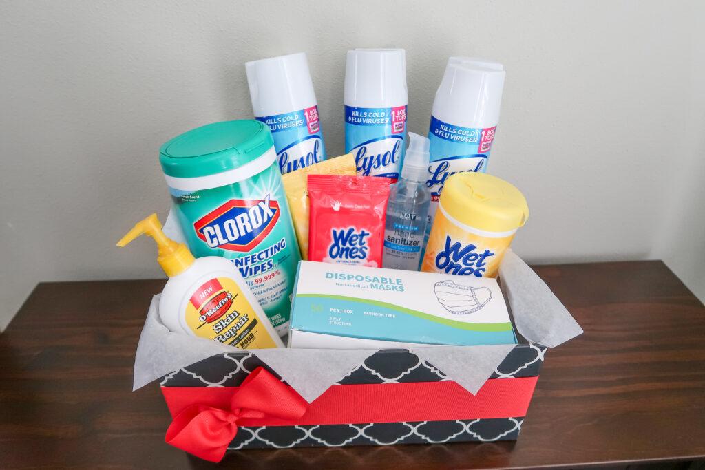 covid-19 teacher gift basket
