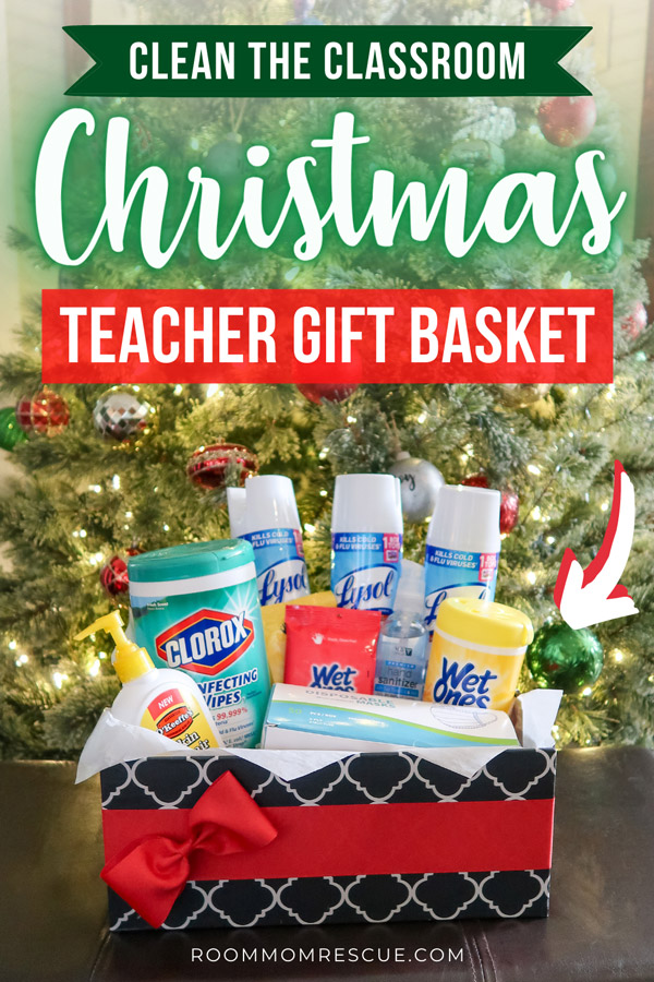 covid-19 cleaning supplies teacher gift for christmas