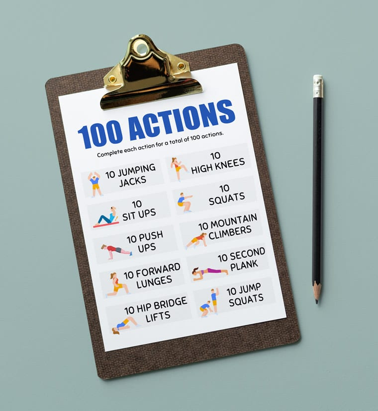 100 actions for kids