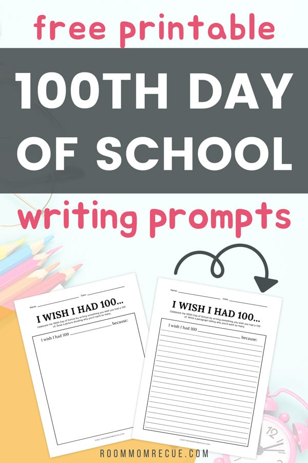 100 days of school writing prompts